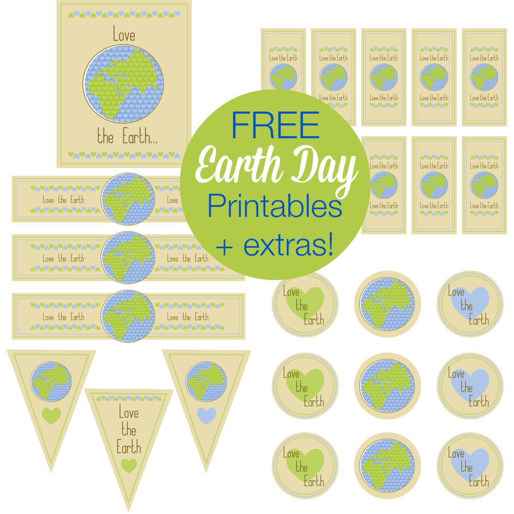 Free Earth Day Printables And More! | Printable Party Games And More - Free Printable Earth Pictures