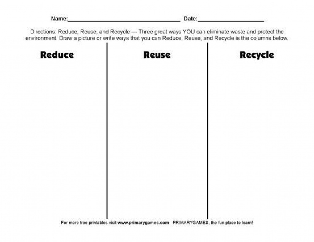Free Earth Day Worksheets: Reduce, Reuse, Recycle! - Free Printable - Free Printable Recycling Worksheets
