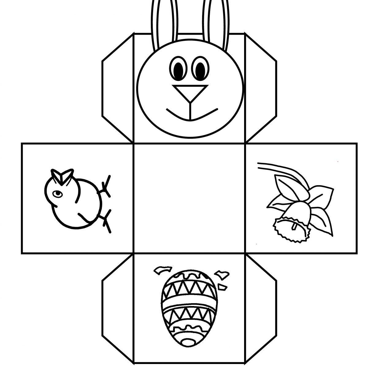 Free Easter Bunny Templates Printables – Hd Easter Images - Free Printable Easter Egg Basket Templates