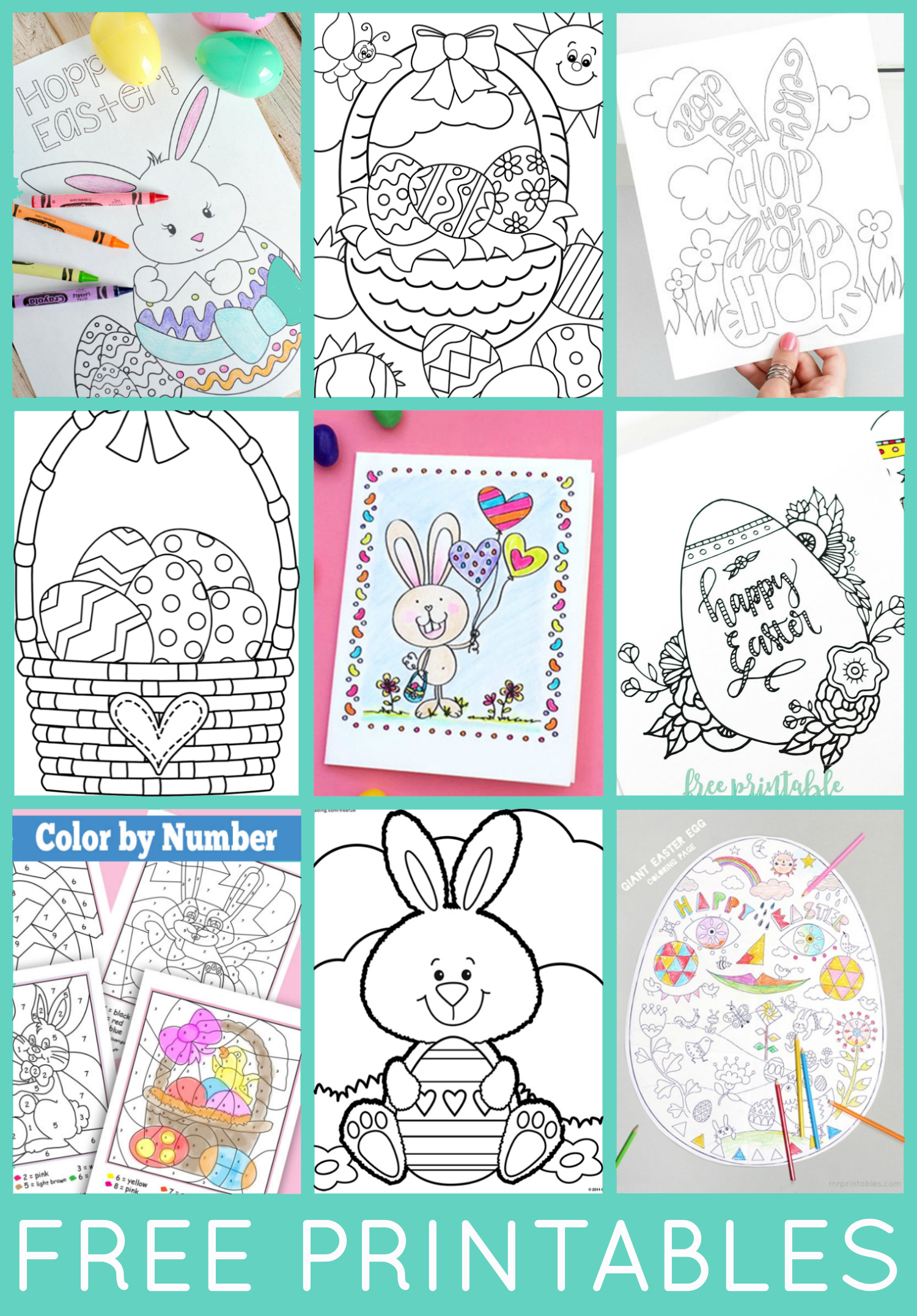 Free Easter Coloring Pages - Happiness Is Homemade - Free Printable Coloring Pages Easter Basket