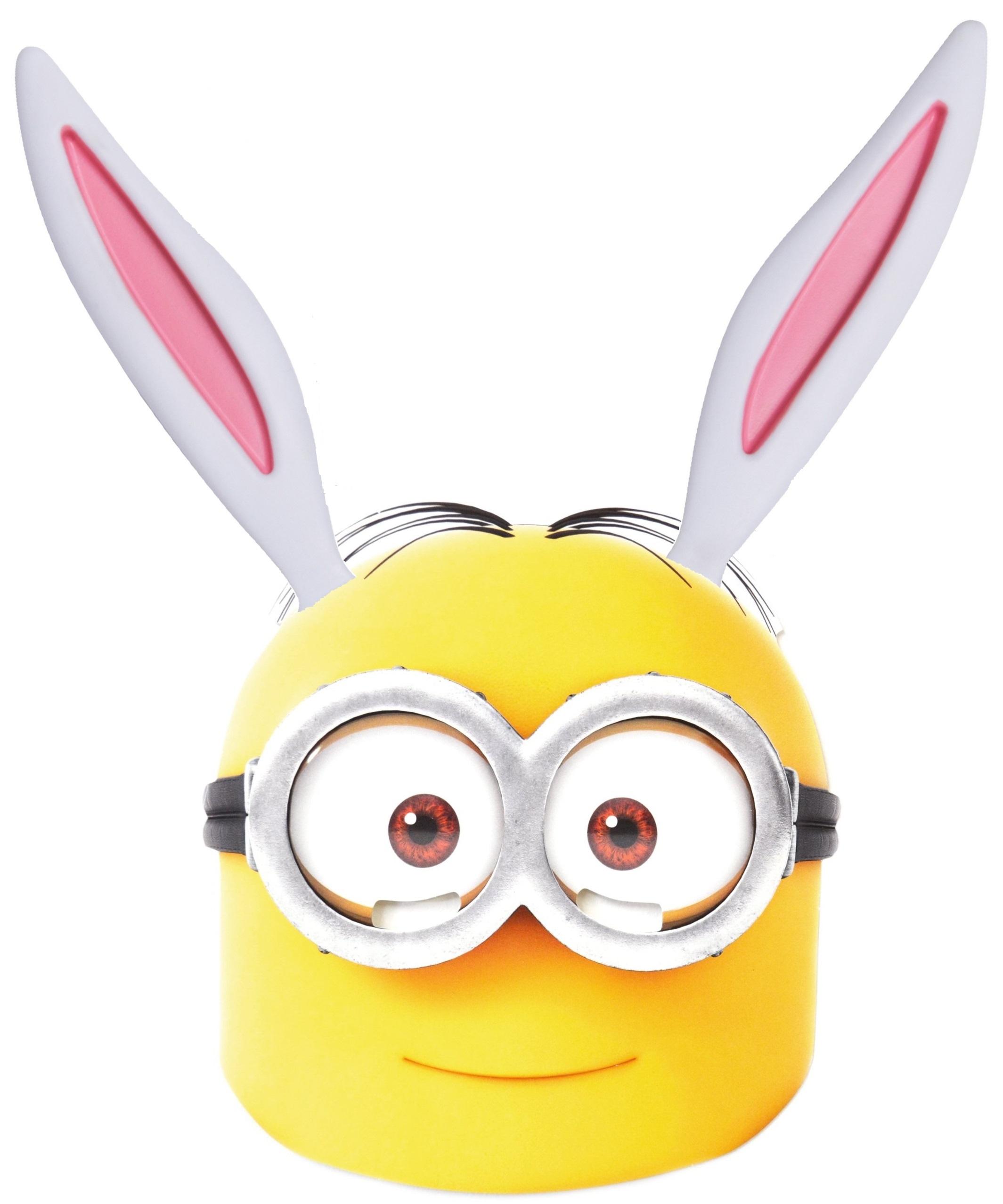 Free Easter Minion Bunny Mask Printable | Inkntoneruk Blog - Free Printable Easter Masks