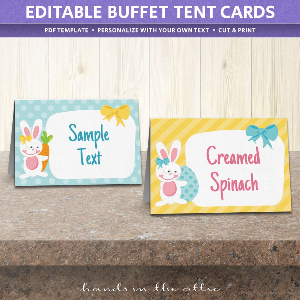 Free Easter Party Food Labels | Printable Download | Hands In The Attic - Free Printable Food Tags For Buffet