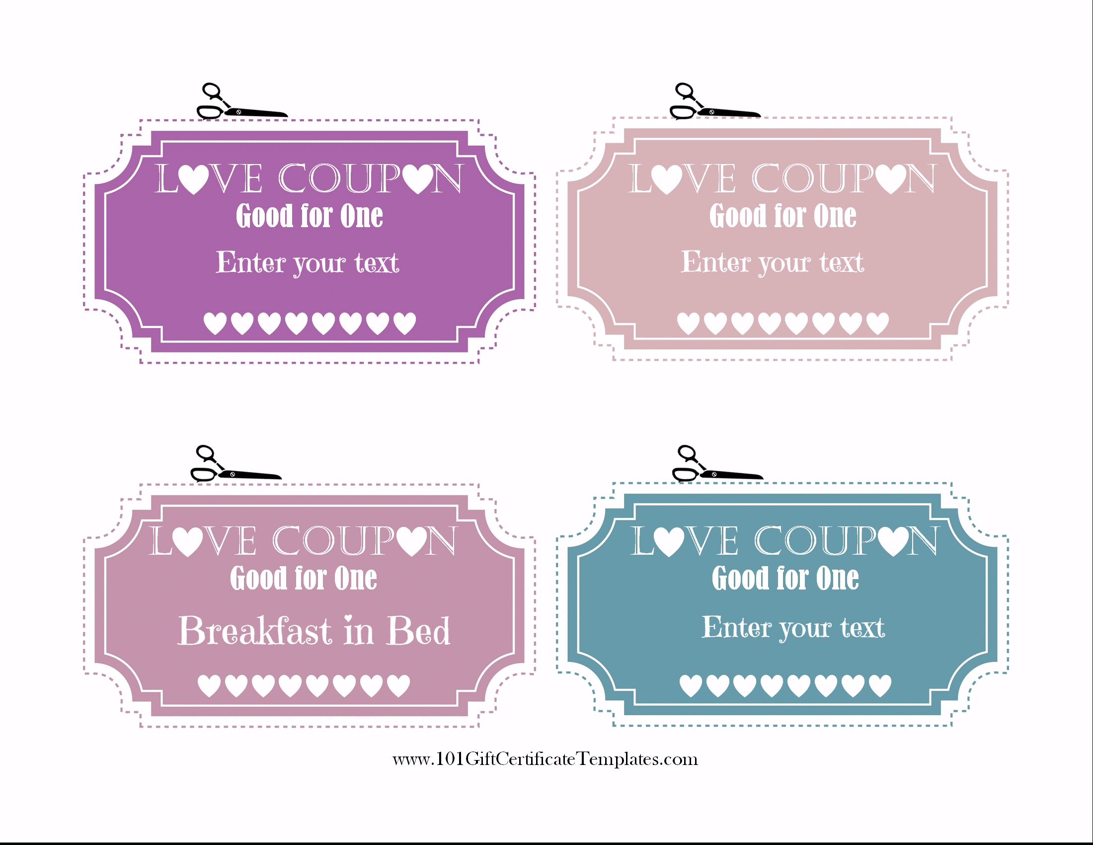 Free Editable Love Coupons For Him Or Her - Free Printable Love Certificates For Him