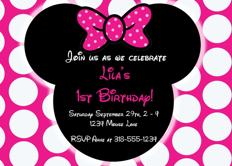 Free Editable Minnie Mouse Birthday Invitations | Minnie Mouse Sba - Free Printable Minnie Mouse Invitations