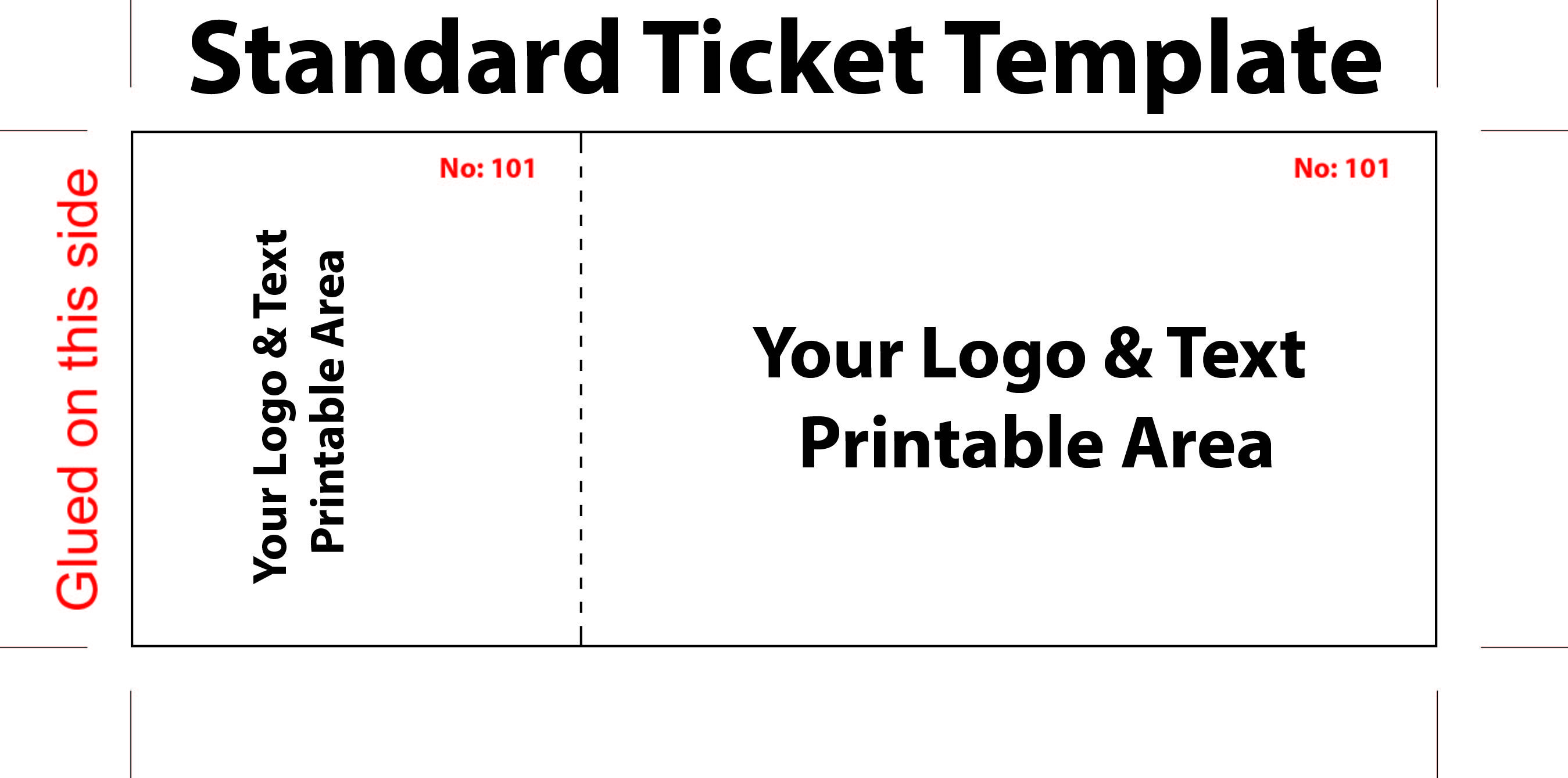 Free Editable Standard Ticket Template Example For Concert With Logo - Free Printable Tickets
