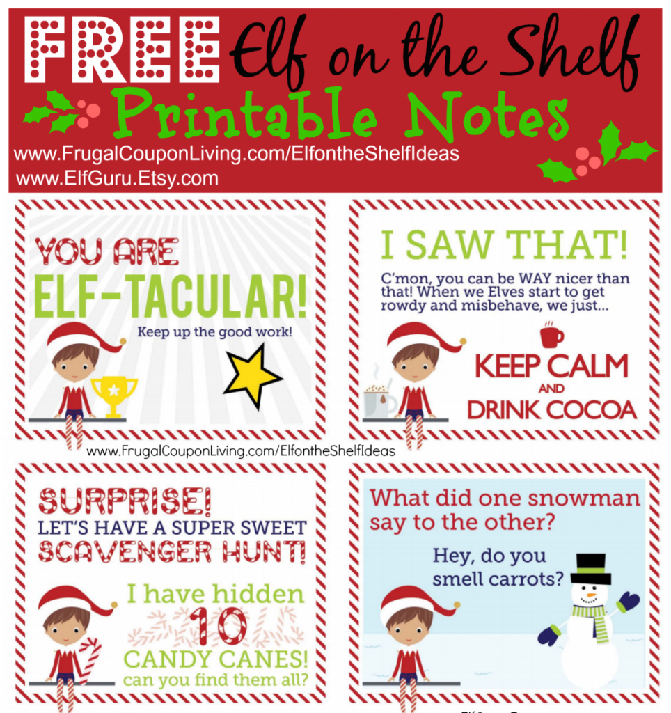 Free Elf On The Shelf Notes. | Holiday Inspirations! | Elf On The - Free Printable Elf On The Shelf Notes
