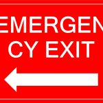 Free Emergency Exit Sign With Arrow | Templates At   Free Printable Exit Signs With Arrow