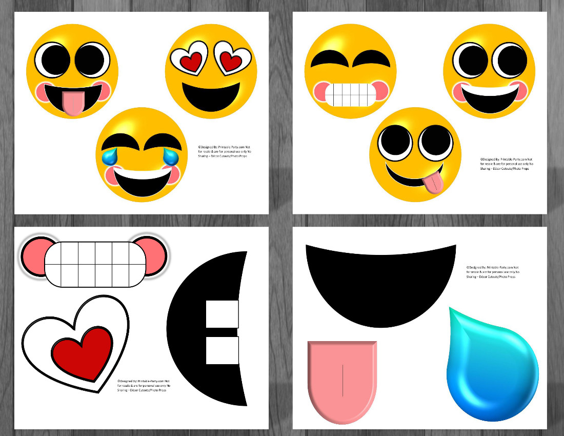 Free Emoji Printable Birthday Greetings - 14.7.ybonlineacess.de • - Free Printable Emoji Faces