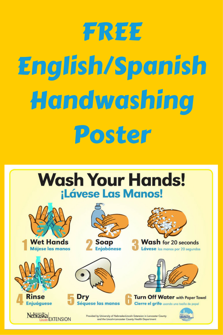 Free English / Spanish Handwashing Poster - Use For Daycare, School - Free Printable Hand Washing Posters