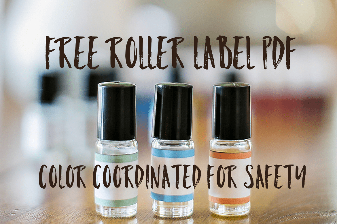 Free Essential Oil Safety Rollerball Printable -Oily Design - Free Printable Roller Bottle Labels