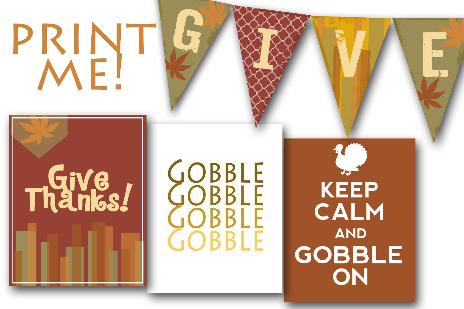 Free Fall & Thanksgiving Printables For You - Meg Clifford - Free Printable Thanksgiving Graphics