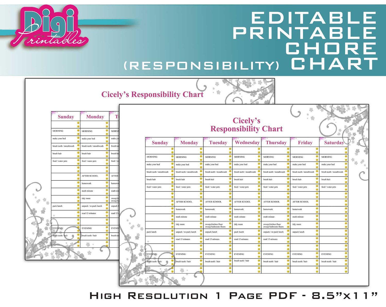 Free Family Chore Charts Printable | Editable / Printable Chore - Free Editable Printable Chore Charts