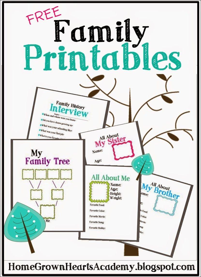 Free Family Printables | Activity Days | Family Theme, Family - My Family Tree Free Printable Worksheets