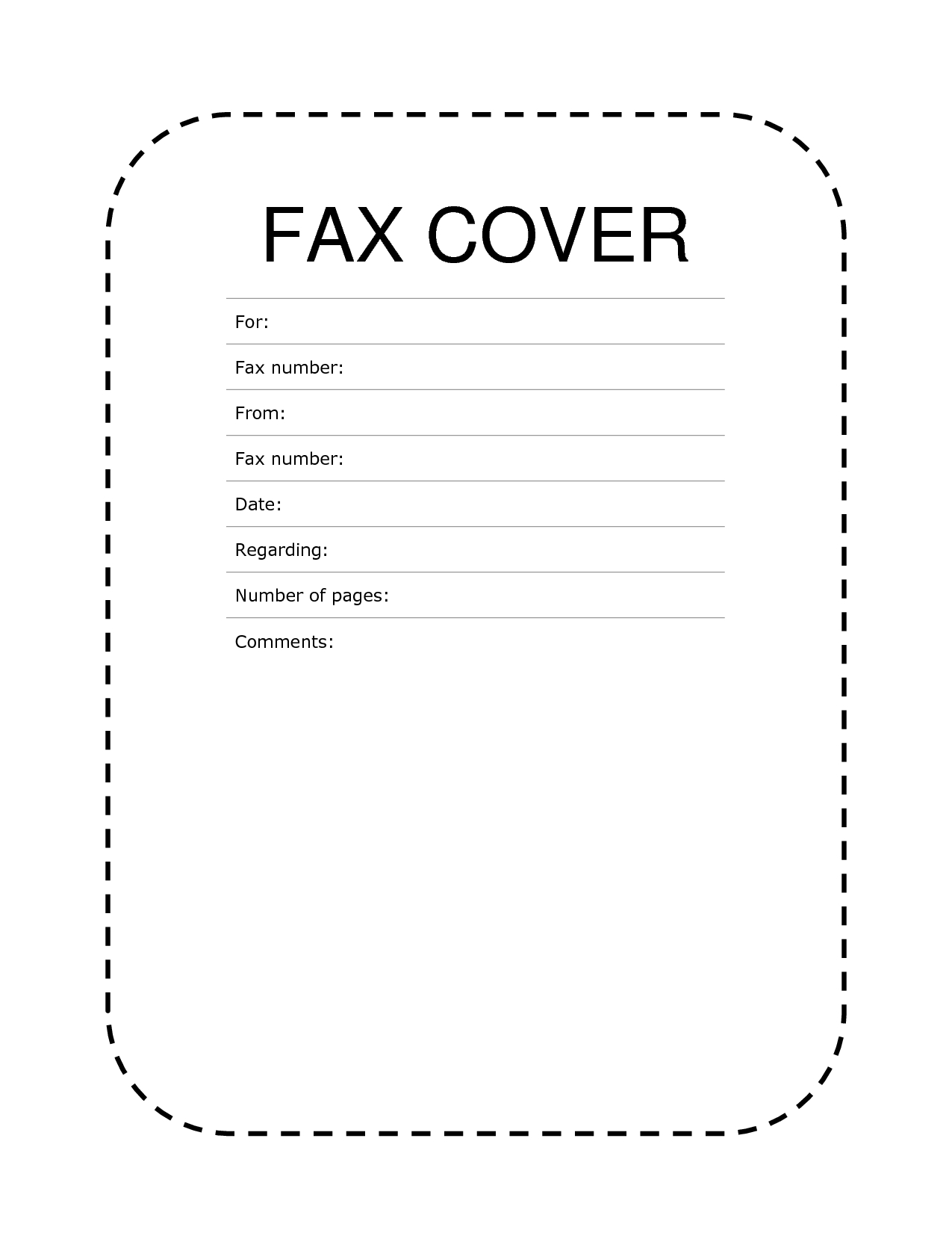 Free Fax Cover Sheet Template Format Example Pdf Printable | Fax - Free Printable Fax Cover Sheet