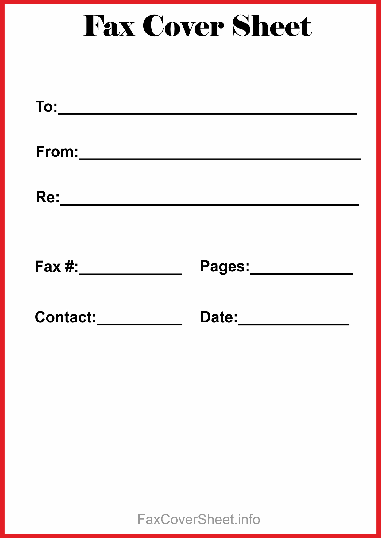 Free]^^ Fax Cover Sheet Template - Free Printable Fax Cover Sheet