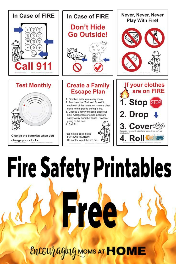 Free Fire Safety Posters With A Lego® Theme - Free Printable Preschool Posters