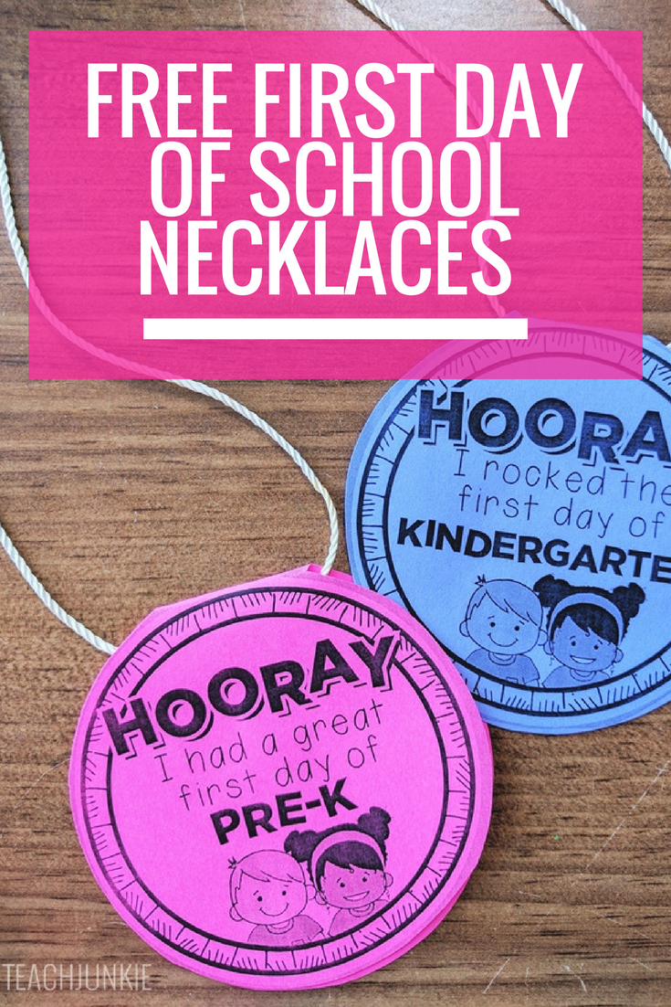Free First Day Of School Necklaces (Editable | Beginning Of Year - Free Printable First Day Of School Certificate