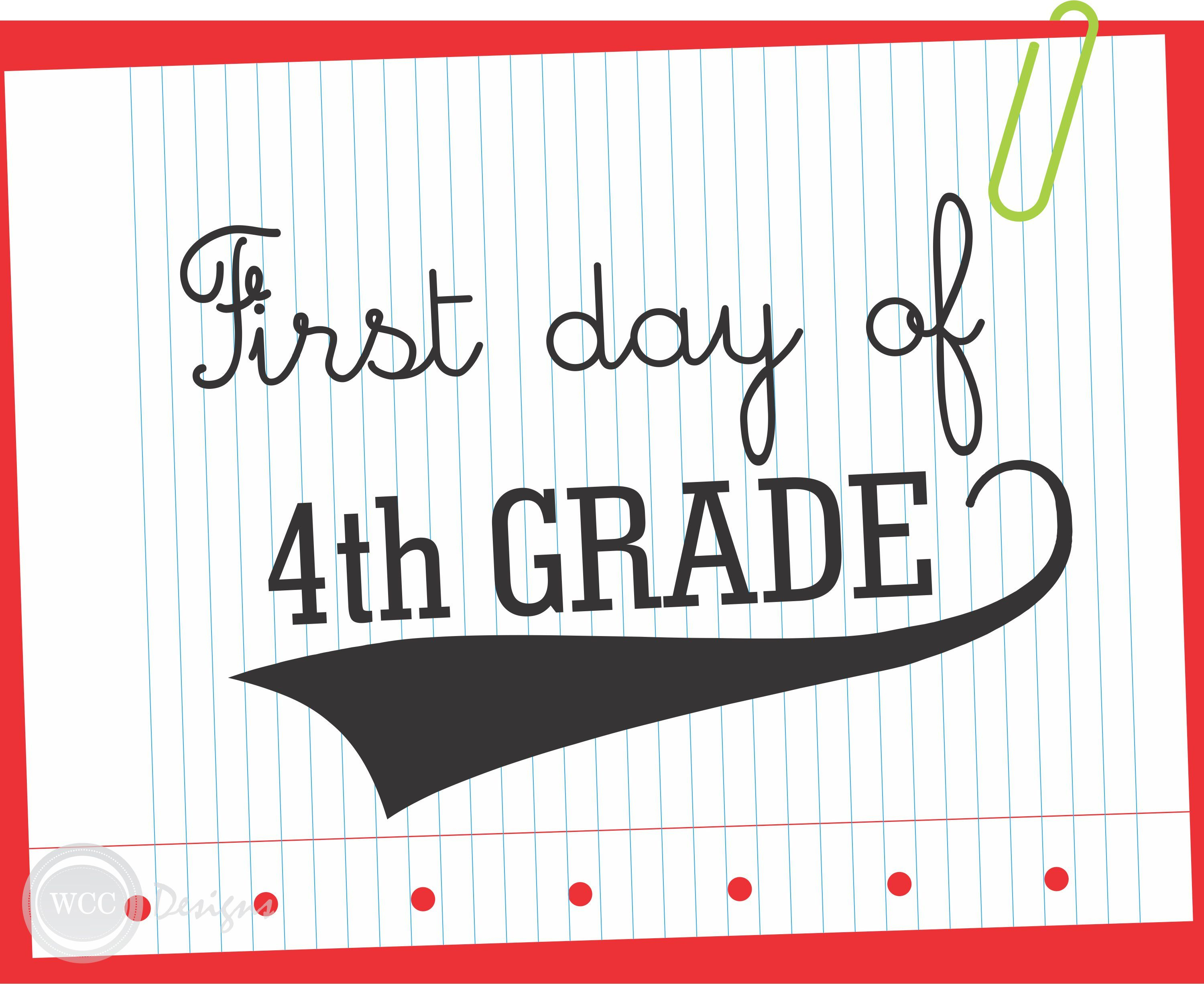 Free First Day Of School Printable Signs From Wcc Designs | Teacher - First Day Of 3Rd Grade Free Printable