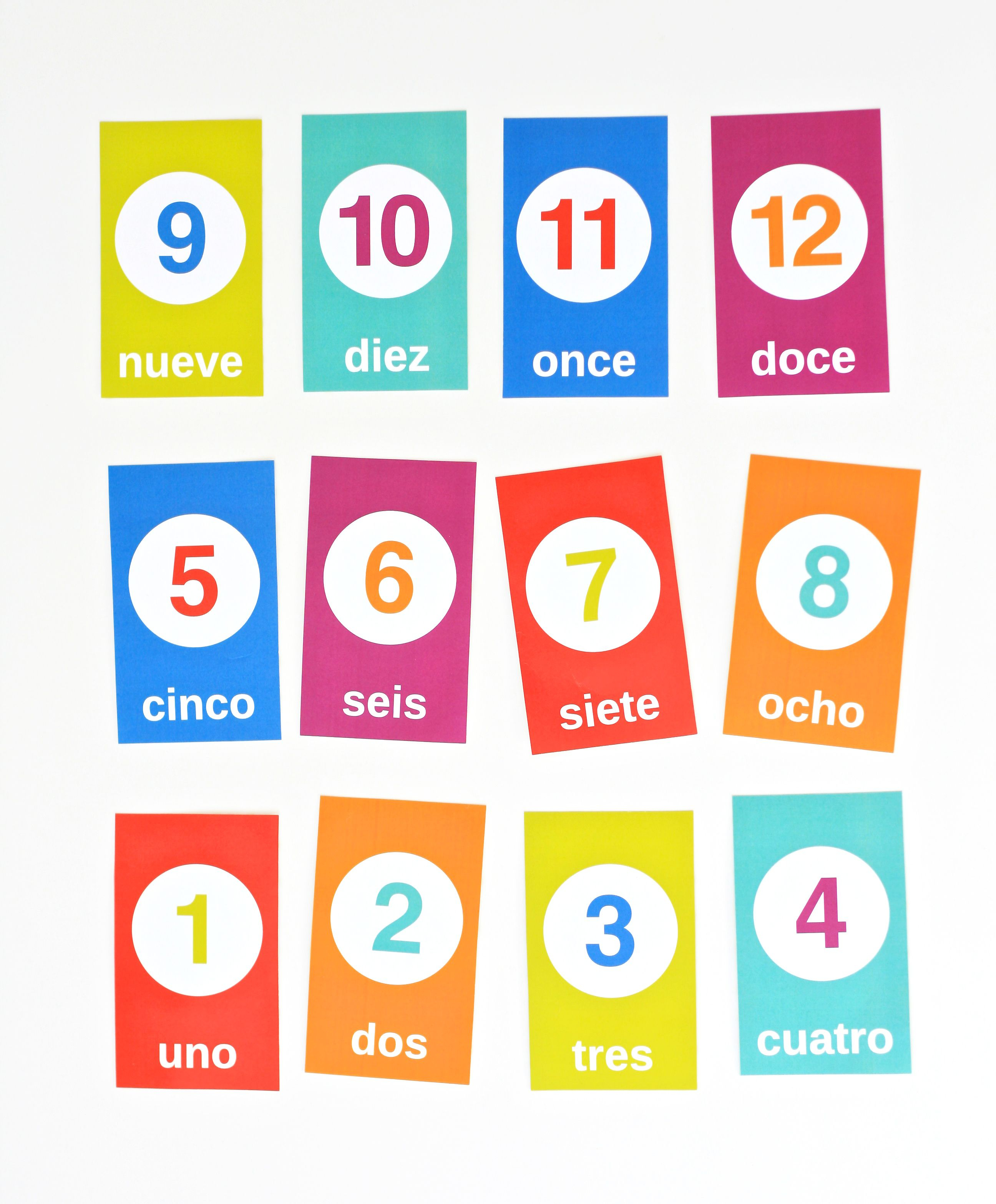 Free Flashcards For Counting In Spanish | Spanish Classroom - Free Printable Spanish Verb Flashcards