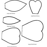 Free Flower Petals Template, Download Free Clip Art, Free Clip Art   5 Petal Flower Template Free Printable