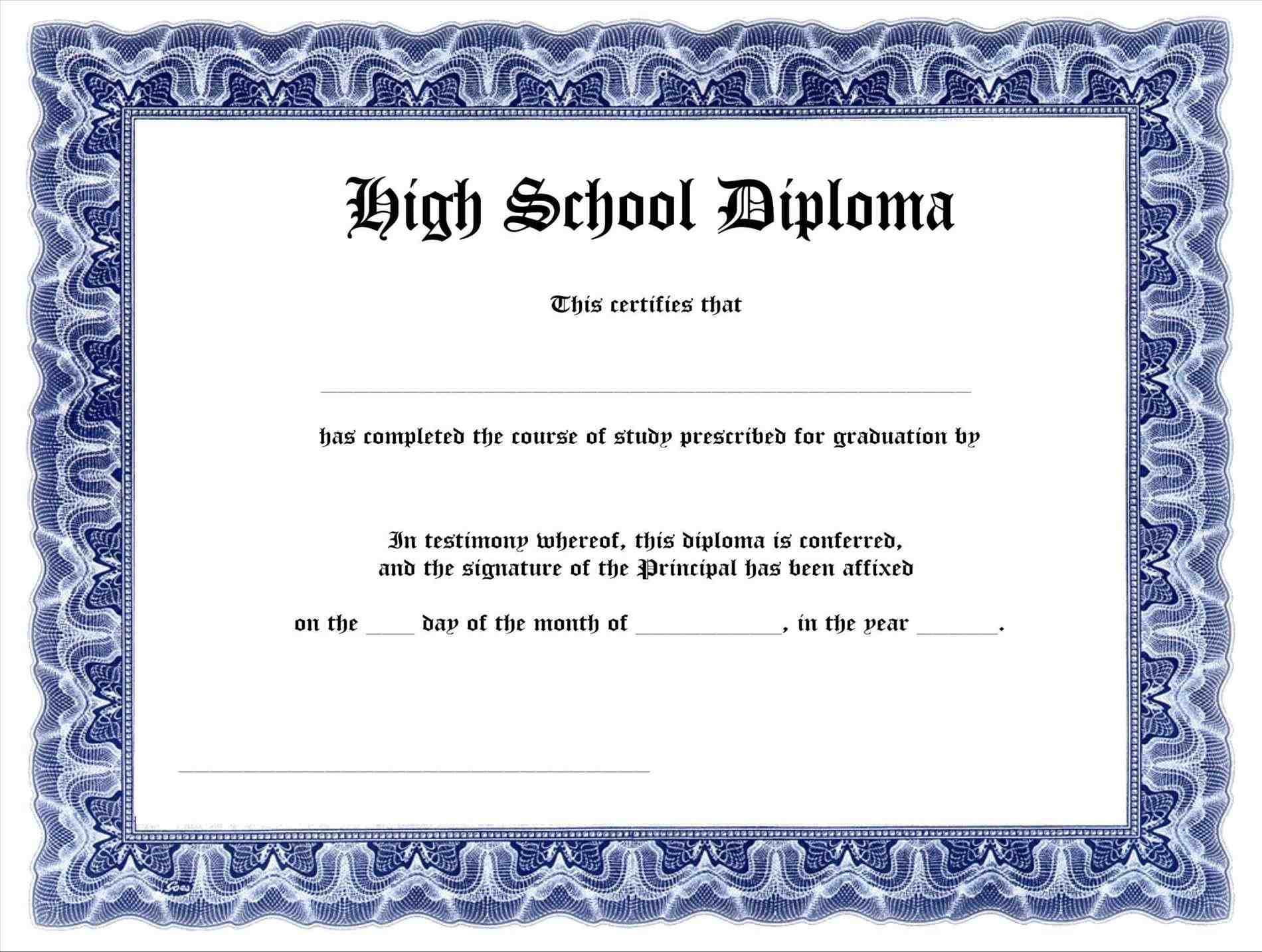 Free-Free-Printable-High-School-Diploma-Templates-High-School - Free Printable High School Diploma Templates
