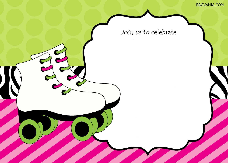 Free Free Printable Ice Skating Birthday Invitations Template - Free Printable Skating Invitations