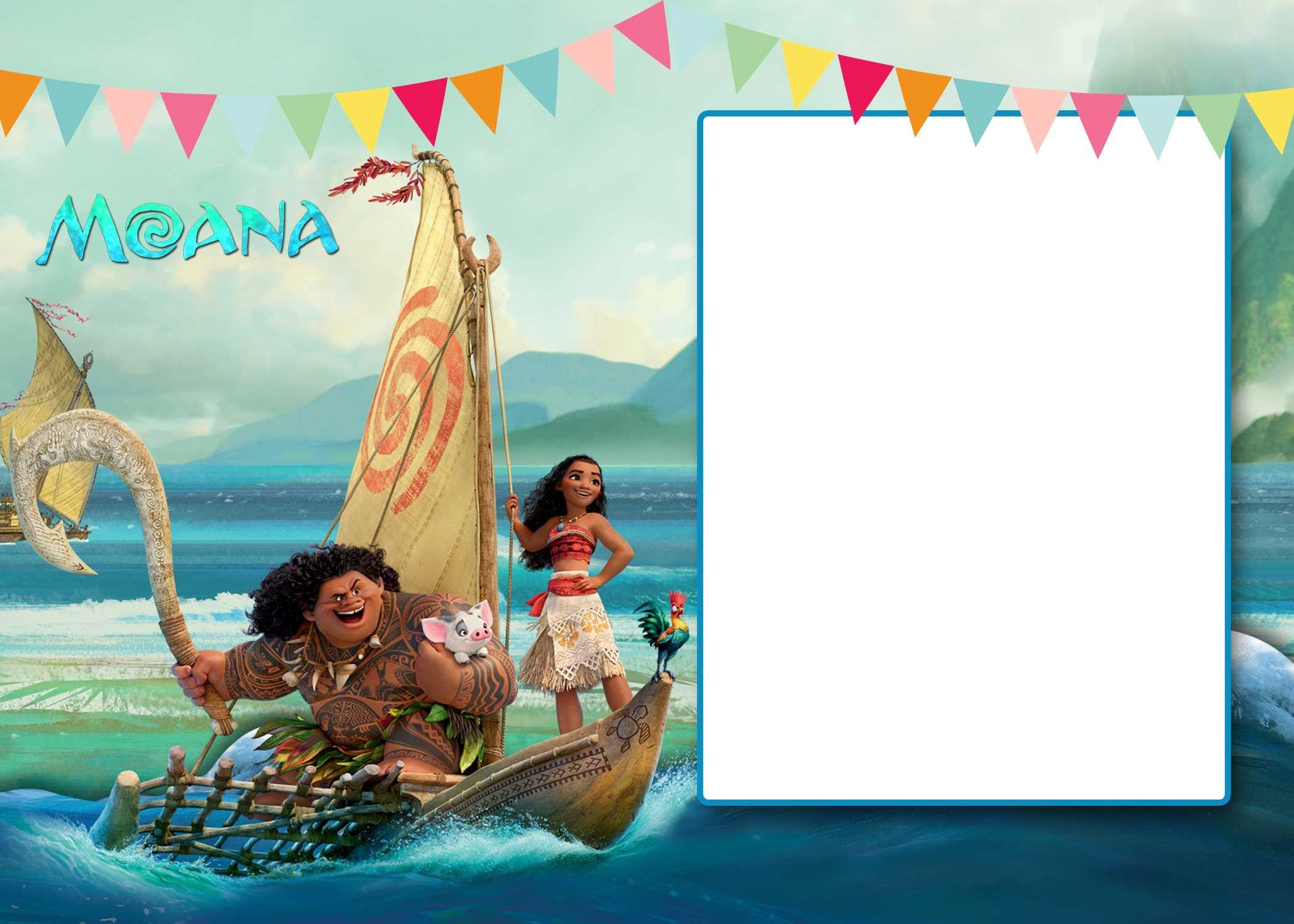 Free Free Printable Moana 1St Invitation Template   Bagvania - Free Printable Moana Invitations