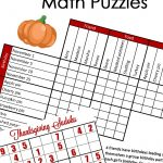 Free} Fun Thanksgiving Math Puzzles For Older Kids   Free Printable Critical Thinking Puzzles