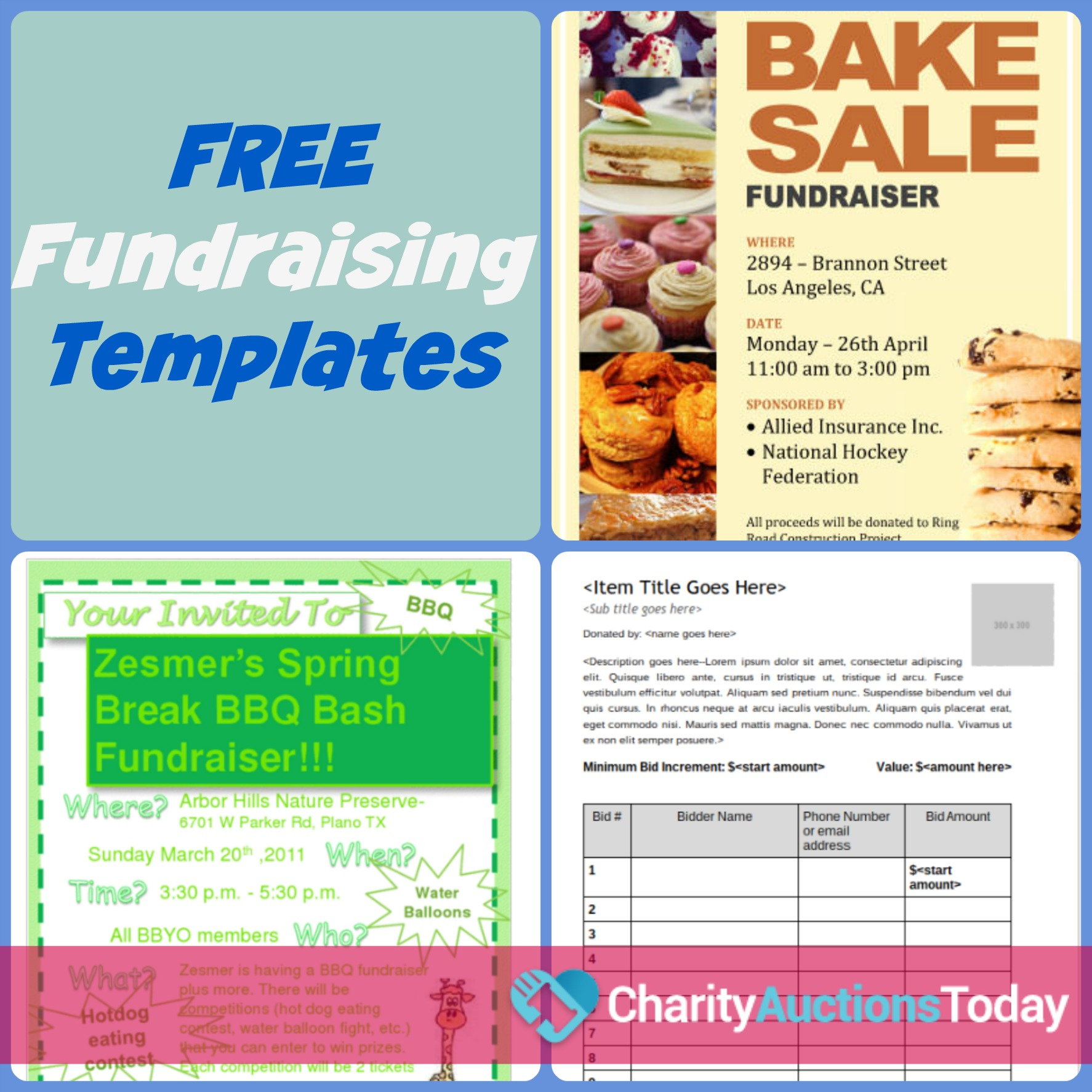 Free Fundraiser Flyer | Charity Auctions Today - Free Printable Brochure Templates