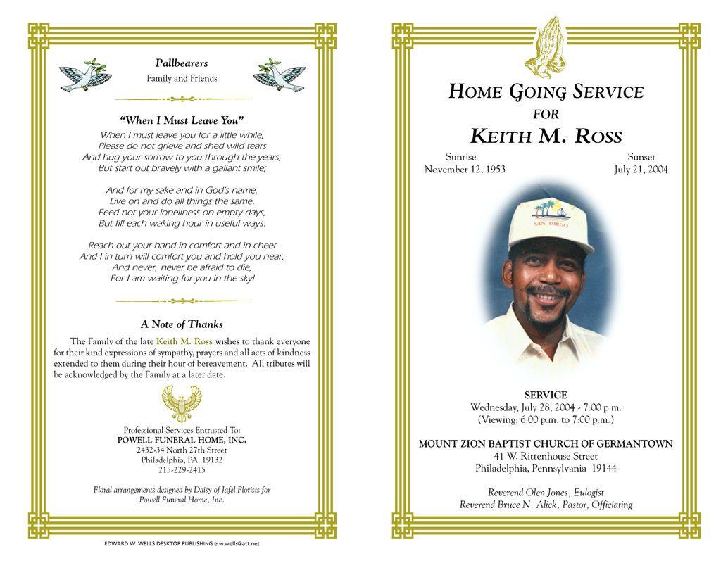Free Funeral Program Templates   Funeral Program Sample Order Of - Free Printable Funeral Programs