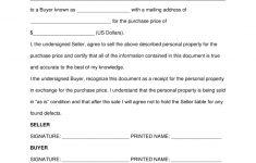 Free Printable Generic Bill Of Sale