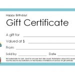 Free Gift Certificate Templates You Can Customize   Free Printable Blank Certificate Templates