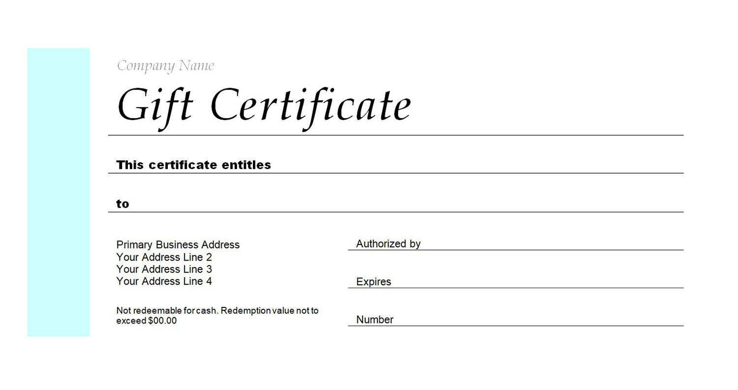 Free Gift Certificate Templates You Can Customize - Free Printable Christmas Gift Voucher Templates