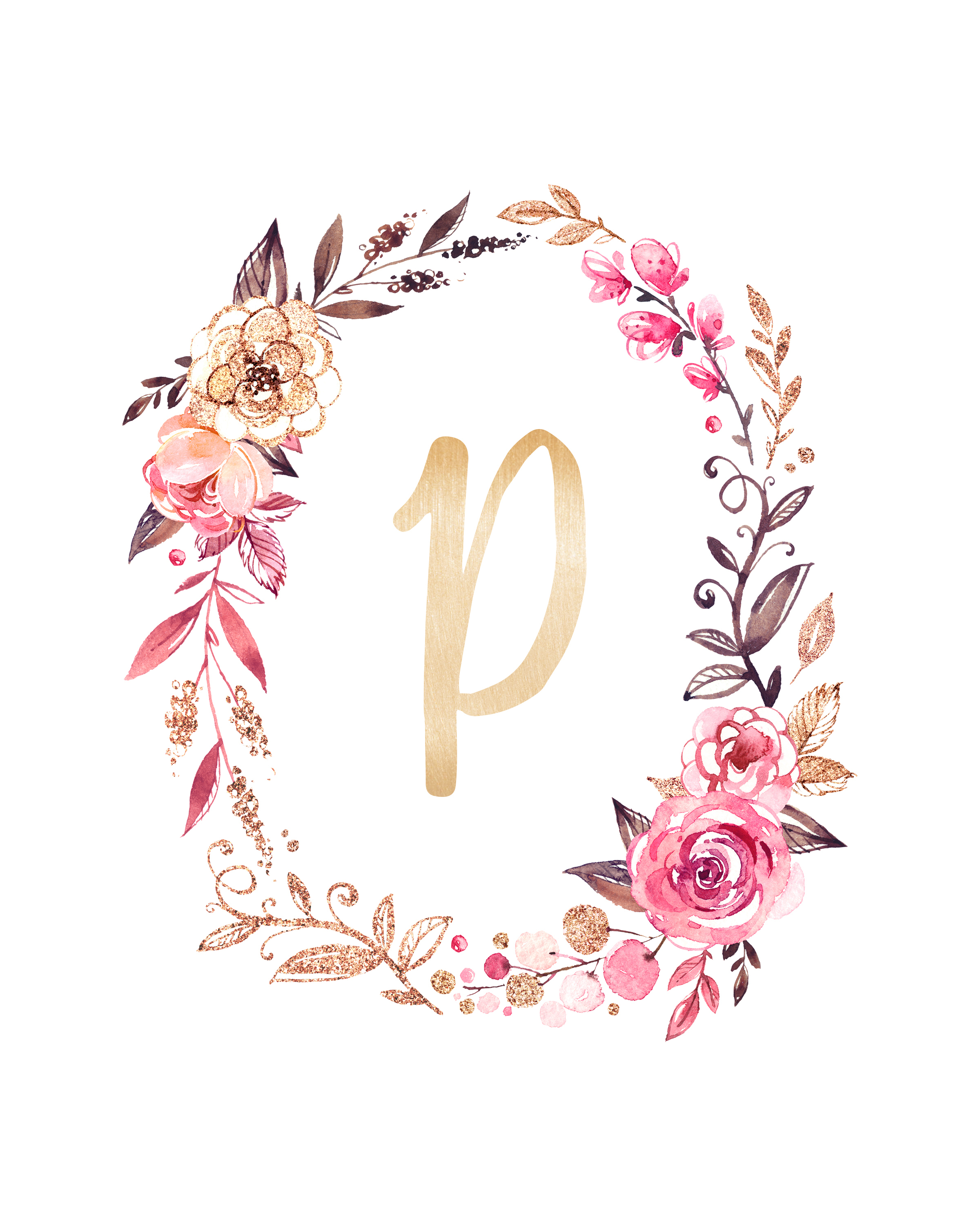 Free Glitter And Glam Monogram Printables | The Cottage Market - Free Printable Monogram Letters