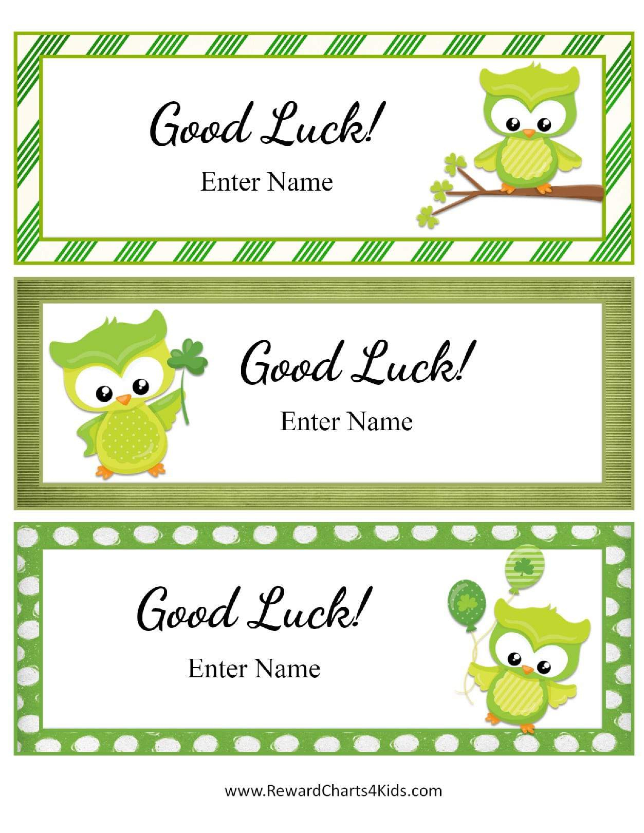 Free Good Luck Cards For Kids   Customize Online & Print At Home - Free Printable Good Luck Cards