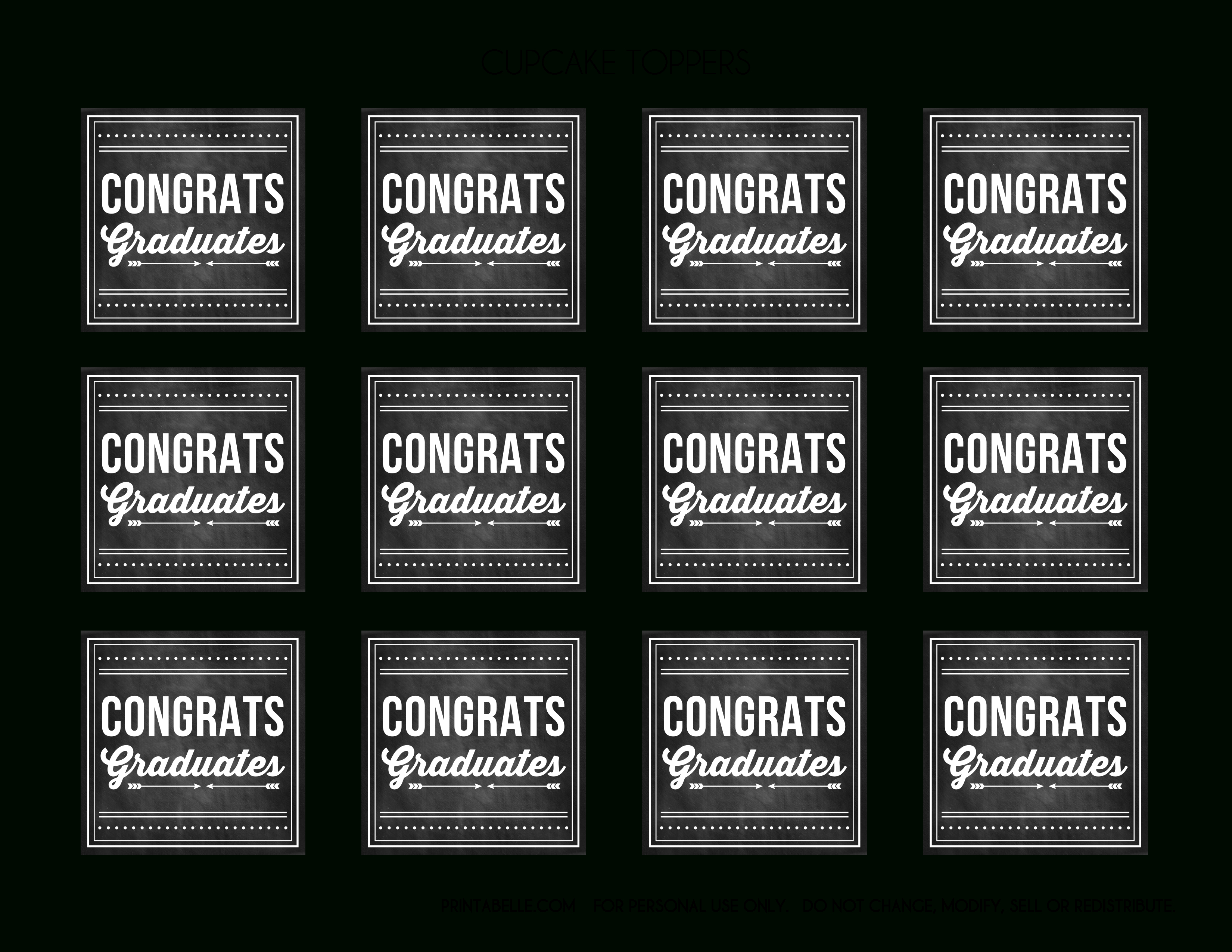 Free Graduation Chalkboard Party Printables From Printabelle | Catch - Free Printable Graduation Address Labels