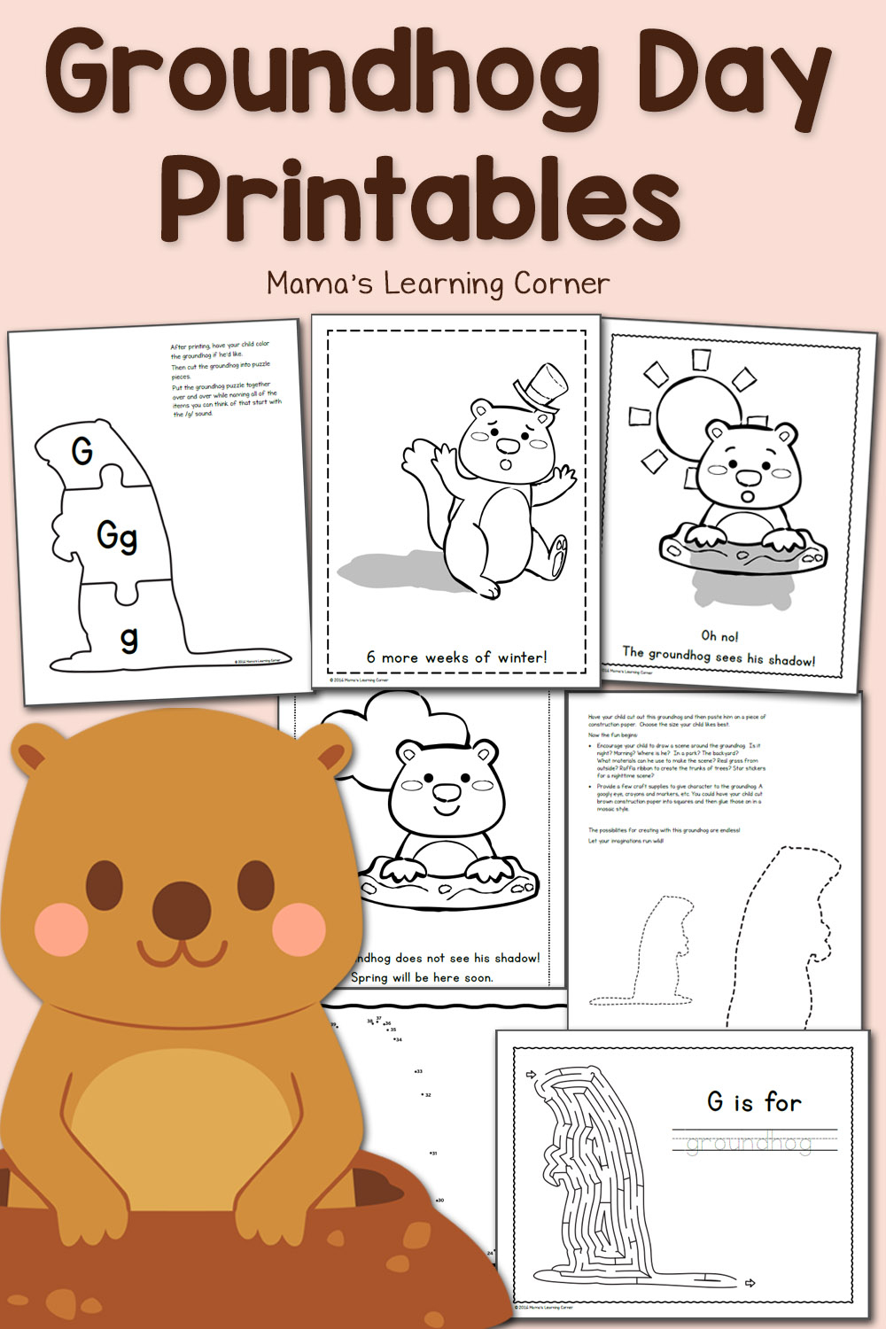 Free Groundhog Day Printables! - Mamas Learning Corner - Free Printable Groundhog Day Booklet