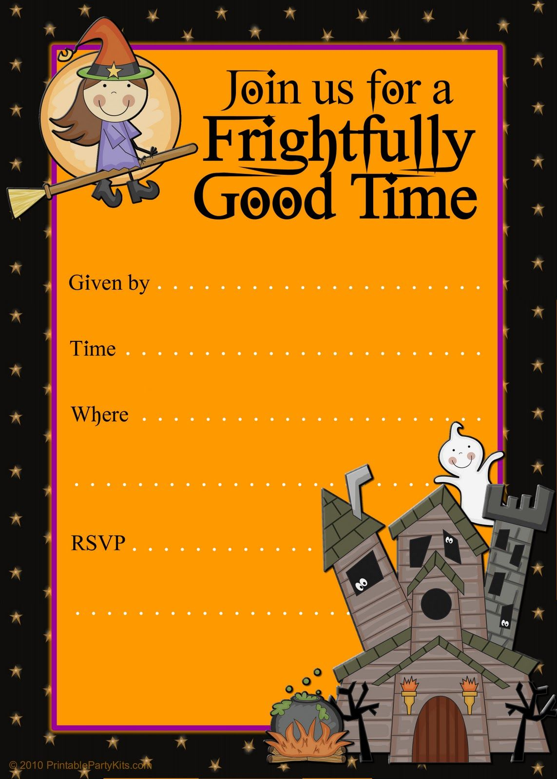 Free Halloween Flyer Invitations Printable | Food | Pinterest - Free Printable Halloween Invitations For Adults