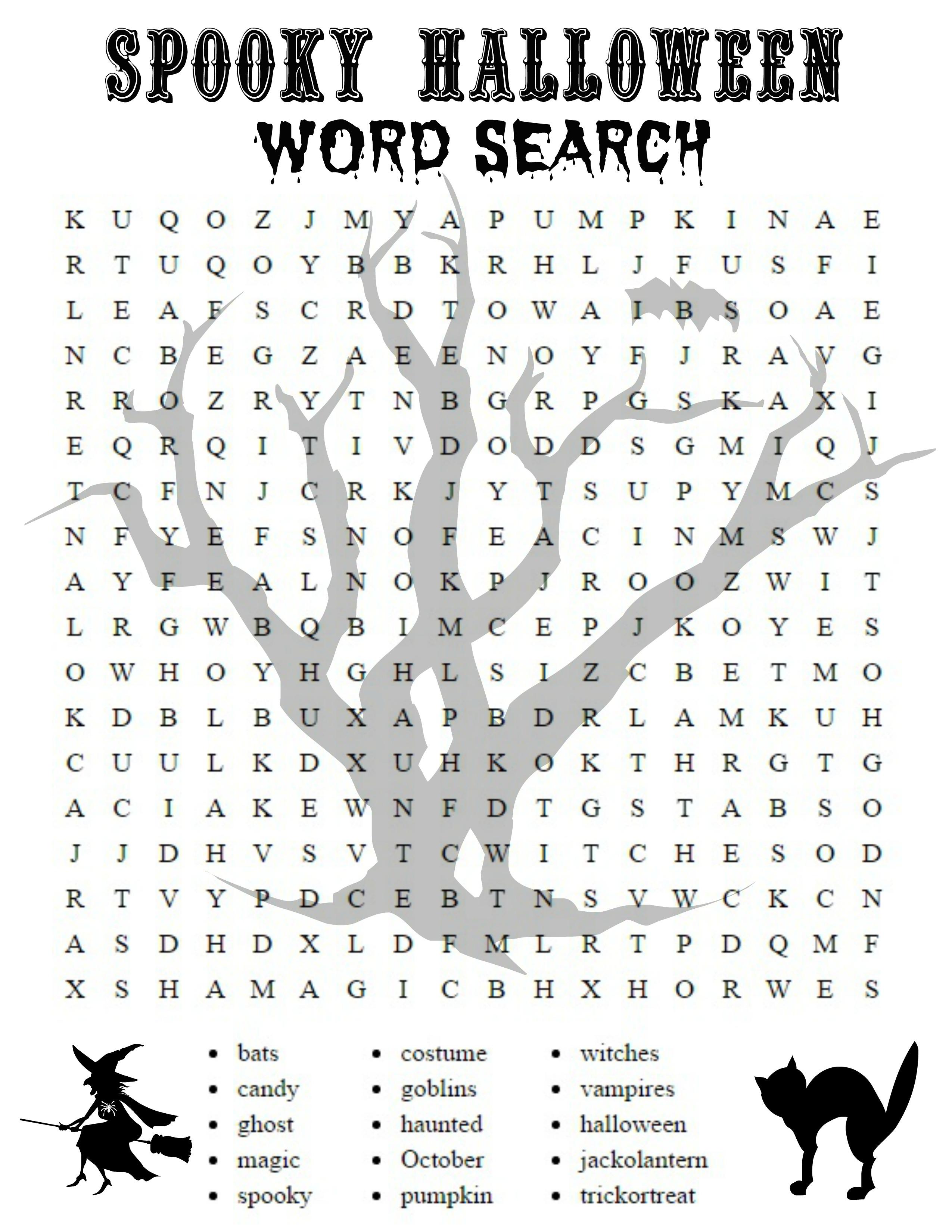 Free Halloween Printable Activities Halloween Word Search - Free Printable French Halloween Worksheets