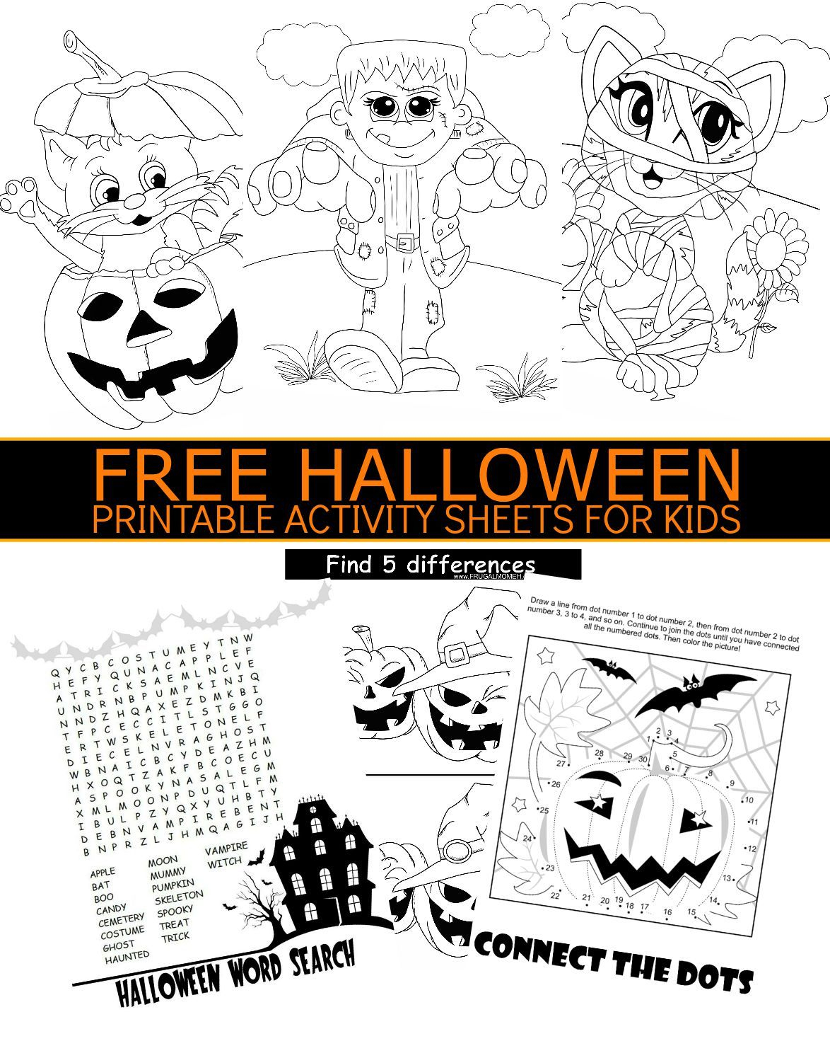 Free Halloween Printable Activity Sheets For Kids | Holidays - Free Printable Halloween Activities