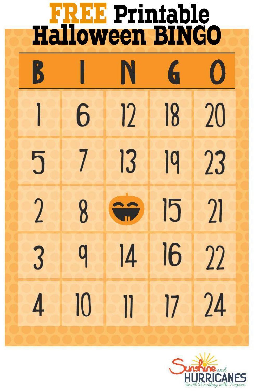 Free Halloween Printables - Bingo - Free Printable Bingo