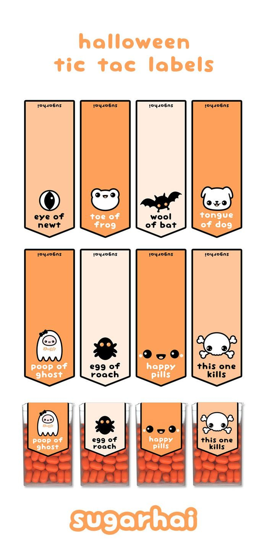 Free Halloween Printables | Halloween | Pinterest | Halloween, Cute - Free Printable Tic Tac Labels