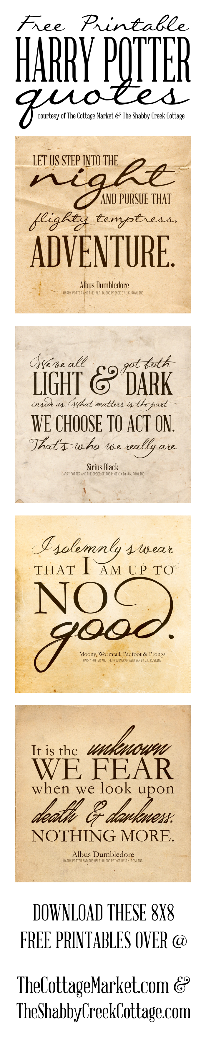 Free Harry Potter Quotes Printables   Pinterest   Harry Potter, Free - Free Printable Harry Potter Posters