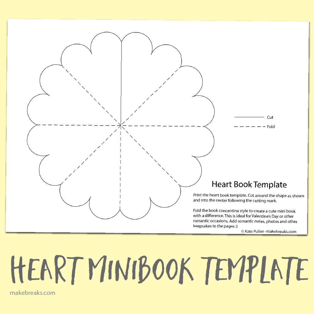 Free Heart Minibook Template | Teaching | Mini Books, Heart Shapes - Free Printable Mini Books