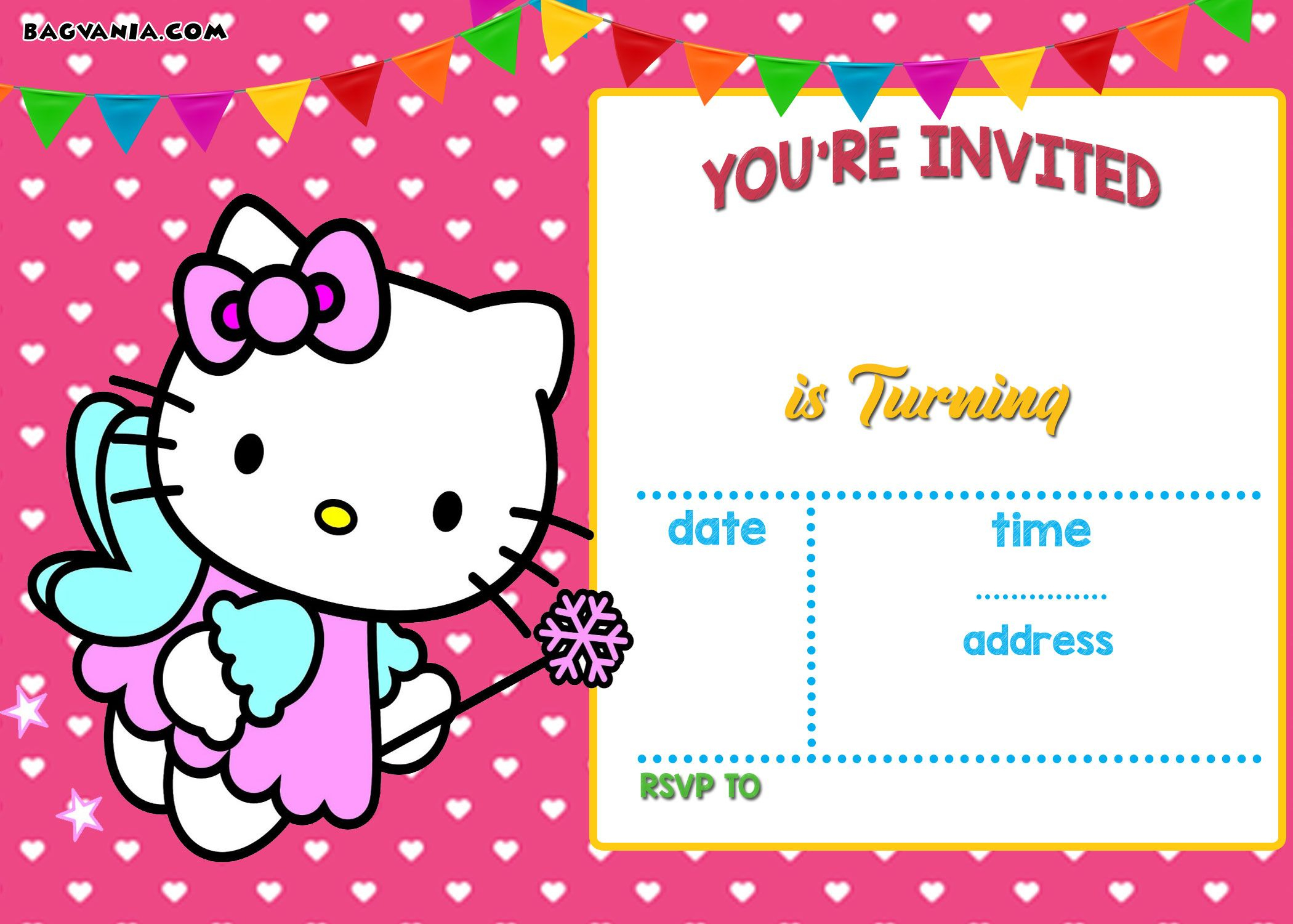 Free Hello Kitty Invitation | Free Printable Birthday Invitation - Free Printable Hello Kitty Pictures