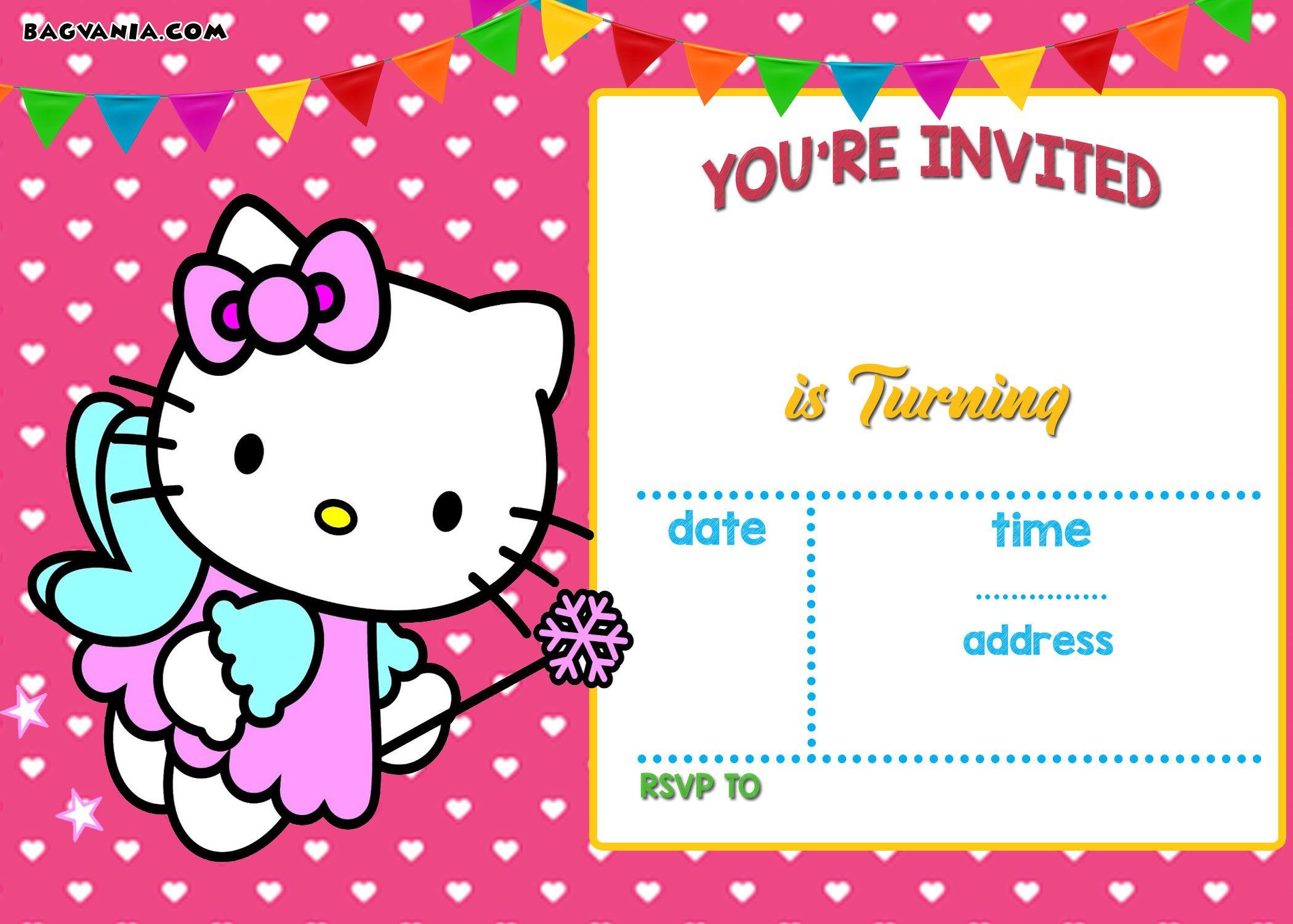 Free Hello Kitty Invitation | Free Printable Birthday Invitation - Printable Invitation Templates Free Download