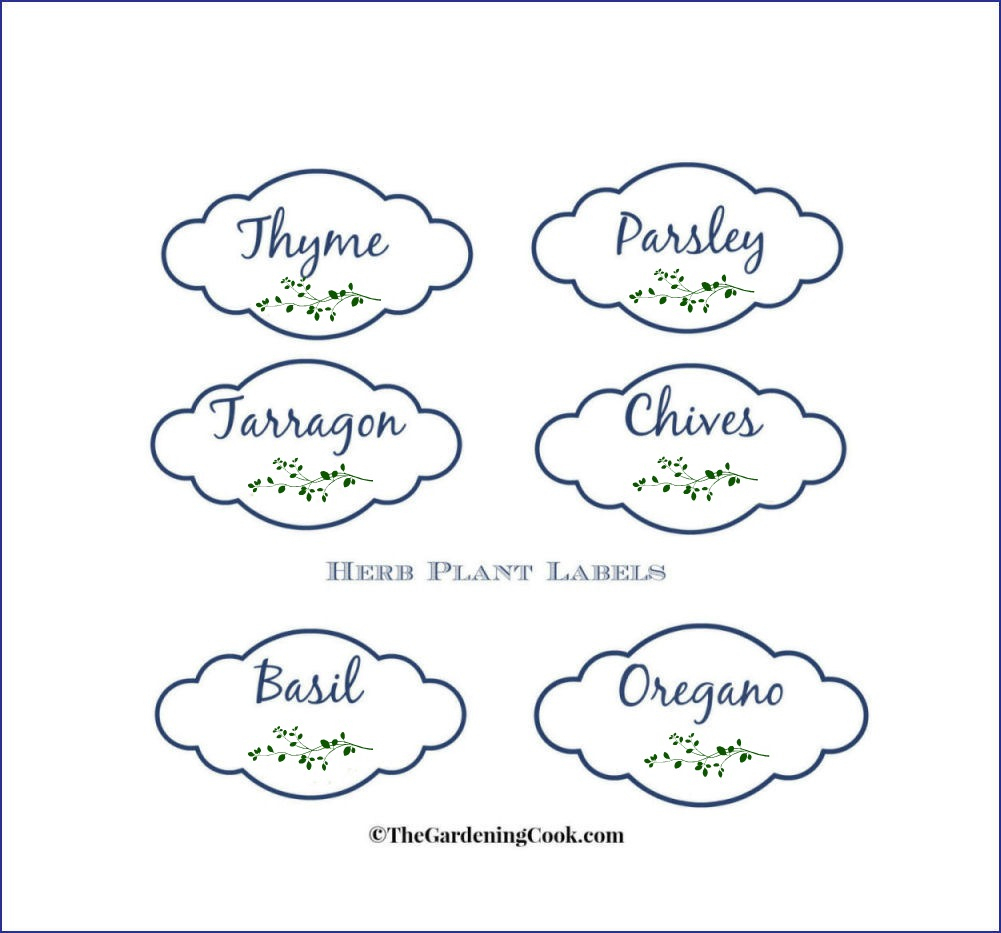 Free Herb Plant Labels For Mason Jars And Pots - The Gardening Cook - Free Printable Herb Labels