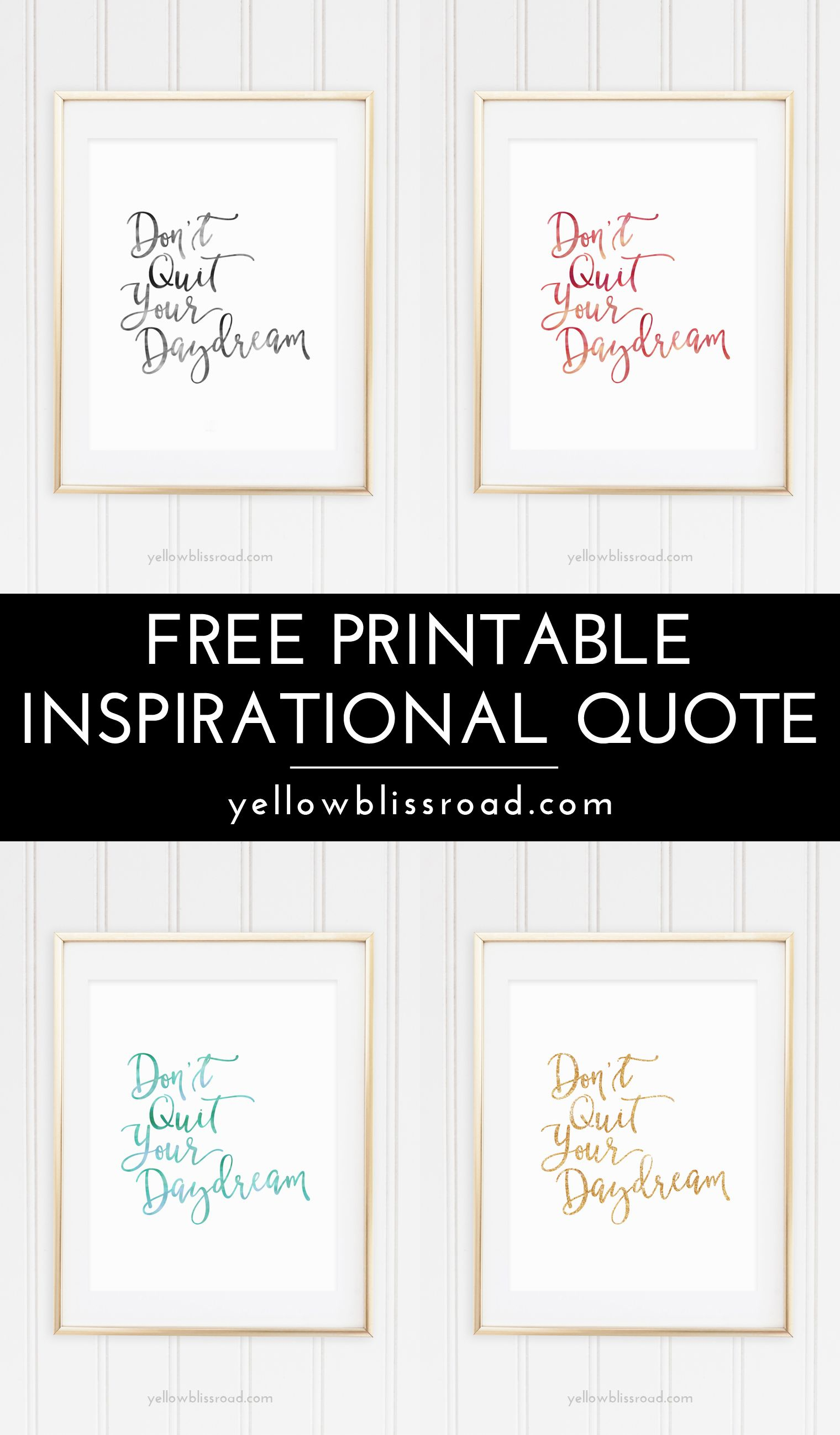 Free Inspiration Quote Printable | Free Printable Wall Art, Quotes - Free Printable Quotes Templates