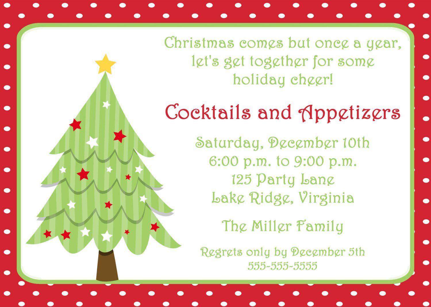 Free Invitations Templates Free | Free Christmas Invitation - Free Printable Christmas Invitations