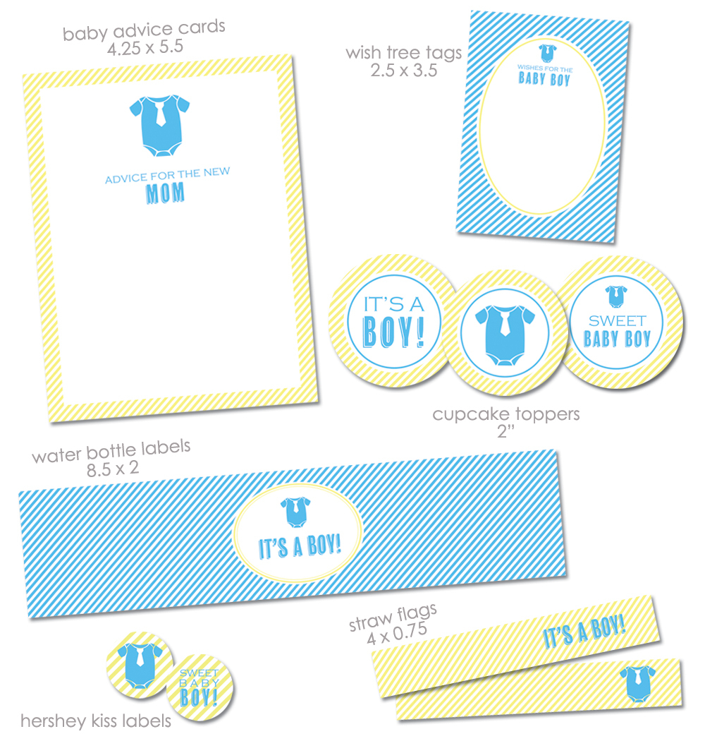 "Free ""it's A Boy"" Baby Shower Printables From Green Apple Paperie - Baby Invitations Printable Free"